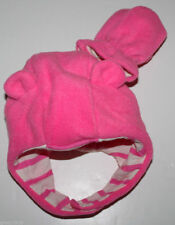 baby Gap New Pink Pro Fleece Bear Hat & Mittens Set w/ Knit Lining