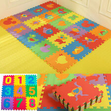 Baby Soft EVA Foam Play Mat Alphabet Number Puzzle DIY Toy Floor Tile Game10 x