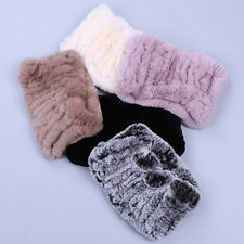 New Real Rex Rabbit Fur Ring Cowl Scarf Scarves Headband Neck Warmer Elastic