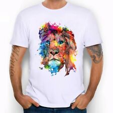 High Quality animal colourful T-shirt lion Design Tops Hipster Tees