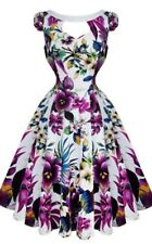 Hearts and Roses (H&R) Rockabilly Pin Up 50s Key West Dress Purple Plus Size