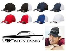 1965 1966 Ford Mustang Coupe Classic Car Color Outline Design Hat Cap