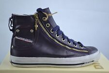 Diesel Expo Zip Women's Trainers Shoes Leather Purple New Size 36-41 Mid