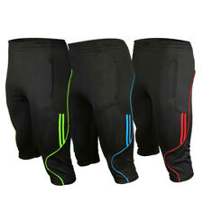 Men's Soccer Football Athletic Training Track 3/4 3-Quater Shorts Pants Trousers