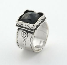 New SHABLOOL Ring 925 Sterling Silver Black Onyx Statement Women Jewelry