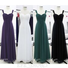 Long Chiffon Wedding Evening Formal Party Ball Gown Prom Bridesmaid Dress 8-20