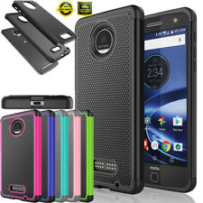 For Motorola Moto Z Force / Z Force Droid Shockproof Rugged Rubber Case Cover