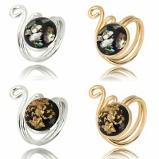 Fashion Gold/Silver Tone Two-double Adjustable Conch Ring Band Women/Men Jewelry