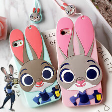 New Zootopia Rabbit Judy Bunny Soft Silicone Case for iPhone Mobile Phones Gift