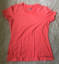 Womens Under Armour Logo Bright Coral Extra Large Xl Short Sleeve Shirt Top