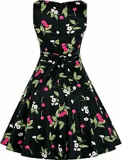 Vintage 1950's Floral Spring Garden Picnic Dress Party Cocktail Dress