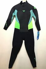 Roxy Womens Full Wetsuit Back Zip Grey Syncro 4/3mm NWT Size 14