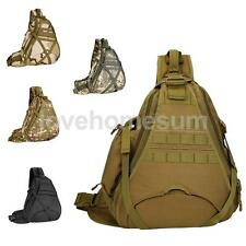 Unisex Nylon Backpack Molle Tactical Sling Chest Bag Pack Messenger Shoulder Bag