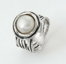 New SHABLOOL Ring 925 Sterling Silver White Freshwater Pearl Jewelry