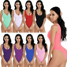 Sexy Women's Sleeveless Mesh See-Through Bodysuit Leotard Thong Romper Jumpsuit