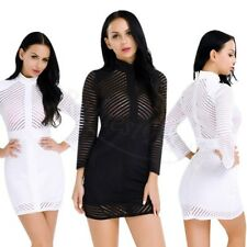 Sexy Long Sleeve Lace Office Casual Formal Evening Club Party Mini Bodycon Dress
