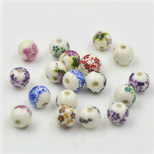 Hot 8mm Blue And White Porcelain Ceramic Round Loose Beads Jewelry Making DIY