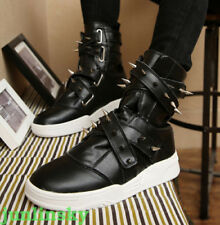 2017 COOL Mens Rivet Boot High Top Punk Fashion Sneaker College Trainer Shoes