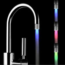 Temperature Sensor 3 Color RGB Glow Shower LED Light Kitchen  Water-Tap Faucet