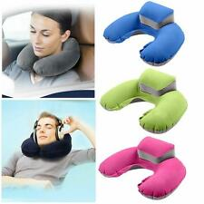 Pillow Air Blow Up Shape Car Inflatable Neck Cushion Soft Travel Rest Head New