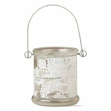 Tag Ltd Candle Lantern Holder Paisley Tealight Hanging Decorative Clear 4""