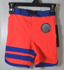 NWT BOYS KID TODDLER HURLEY NEON ORANGE SWIMMING SUIT TRUNKS BOARD SHORTS SZ 2T