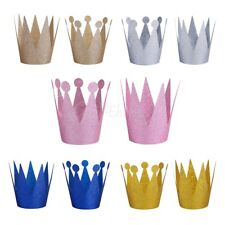 6PCS Crown Hats Hair Band Headband Party Birthday Photo Props for Kids Baby Girl