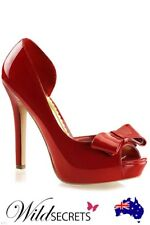 NEW Fabulicious by Pleaser 4 3/4 inch Heel Jesse Peeptoe Pump RED, Platform