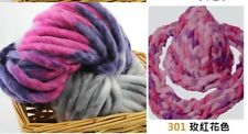 Knitting Yarn 2 Pcs Lot Bulky Cotton Bamboo Chunky Soft Crochet Yarn + Needles