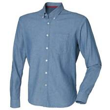 Front Row Mens Classic Slim Fit Comfortable Casual Chambray Cotton Shirt
