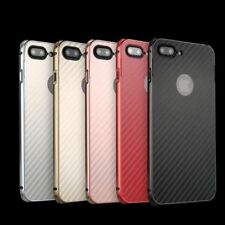 Luxury Carbon Fibre Aluminum Metal Frame Hard Case Cover For iPhone 7 / 7 Plus