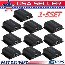 LOT HDMI Extender Over Single Cat6 200FT IR Repeater CAT5e/6 Receiver 1080P VP