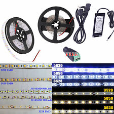 5M 5630/5050/3528/3014 SMD 300/600Leds Flexible Led Strip Light Waterproof DC12V