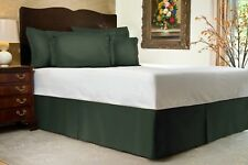 Harmony Lane Tailored Bed Skirt with Split Corners for XL Full Extra Long Bed