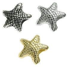 Sterling Silver Star Fish Sea Beach Ocean Bead for European Charm Bracelets