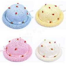 Summer Fashion Cute Baby Kids Girl Flowers Bucket Hat Sun Straw Cap New