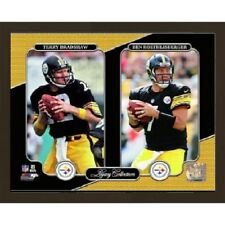 "Terry Bradshaw Ben Roethlisberger Pittsburgh Steelers Photo 8""X10"" BONUS W/RINGS"