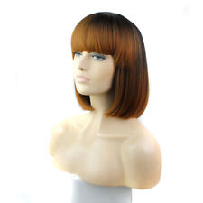 Furice Ombre Short Bob Wig Afro Black Hair Synthetic Ladies Wigs With Baby Hair