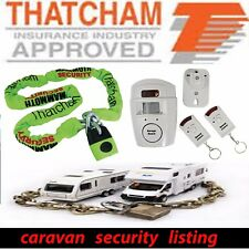 Caravan Security THATCHAM APPROVED Lock / Chain Ground Anchor Alarm Polishing
