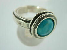 New SHABLOOL Ring 925 Sterling Silver Fine Turquoise Color Women Jewelry