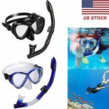Professional Snorkel Set Dry Top Snorkel Set with Tempered Glass Diving Mask