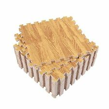 lot 24 SQFT WOOD GRAIN INTERLOCKING EVA FOAM FLOOR WORK GYM MATS PUZZLE MAT EJG