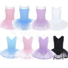 Girls Gymnastics Ballet Dress Tutu Skirts Child Leotard Outfits Dance Costume