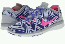 Nike Free 5.0 TR FIT 5 PRT Womens Running Shoes White Purple New Sz 6
