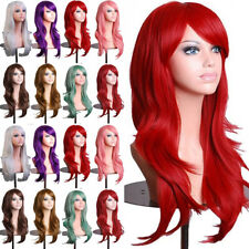 Cosplay Full Wig Long Wave Straight Synthetic Hair Anime Fancy Costume Dress Hy