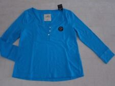 Hollister by Abercrombie Womens 3/4 Sleeve Shirt Wht/Blue/Pink/Navy XS- NWT$24.5