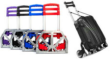 New Portable Luggage Cart with Folding Base, Collapsible Handle, and Bungee Cord