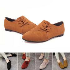 Womens Fashion Slip On Flats Loafers Casual Suede Autumn Single Shoes Loafers