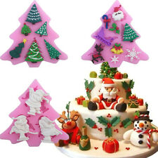 3 Kinds DIY Silicone Soap Molds Cake Candy Chocolate Cookie Xmas Decorating Mold