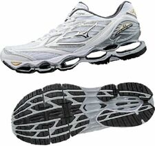 Mizuno Wave Prophecy 6 White Silver Gold Men Running Shoes Tenis J1GC17000​3